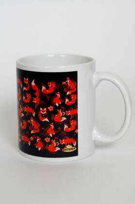 Kubek NatiMug Foxes Brun