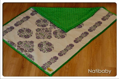 Kocyk NatiBlanket Kurpie Purple