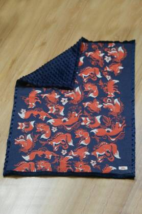 Kocyk NatiBlanket Foxes Orenji
