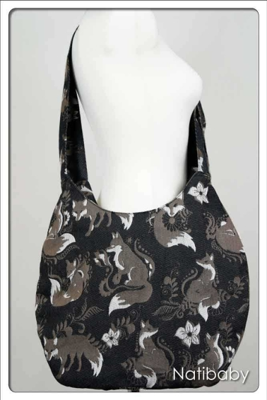 Torba Hobo Foxes Nero