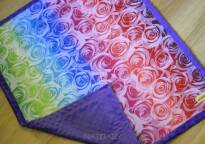 Kocyk NatiBlanket Roses white rainbow #2 Natibaby -MG-6760.JPG