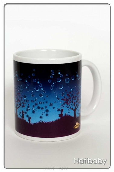 Kubek NatiMug Bubbles Azul