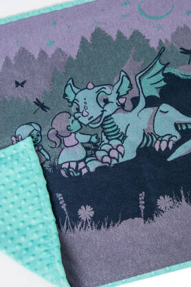 Kocyk NatiBlanket Land of the Dragons mint